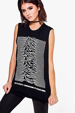 Jennifer Joy Division Band Sleeveless Tee