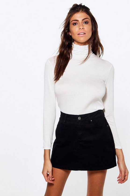 Rita Ruffle Roll Neck Top