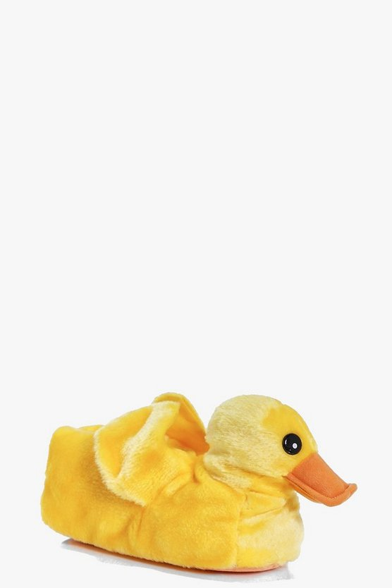 Hollie Duckling Fleece Novelty Slippers