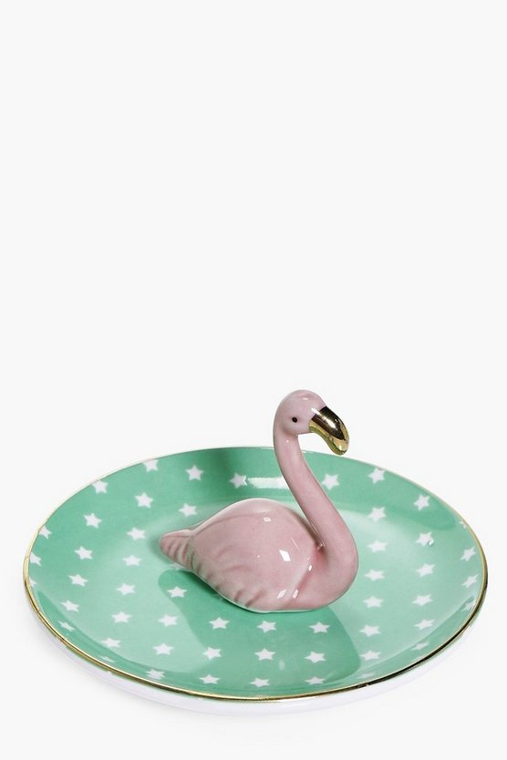Tropical Flamingo Trinket Tray