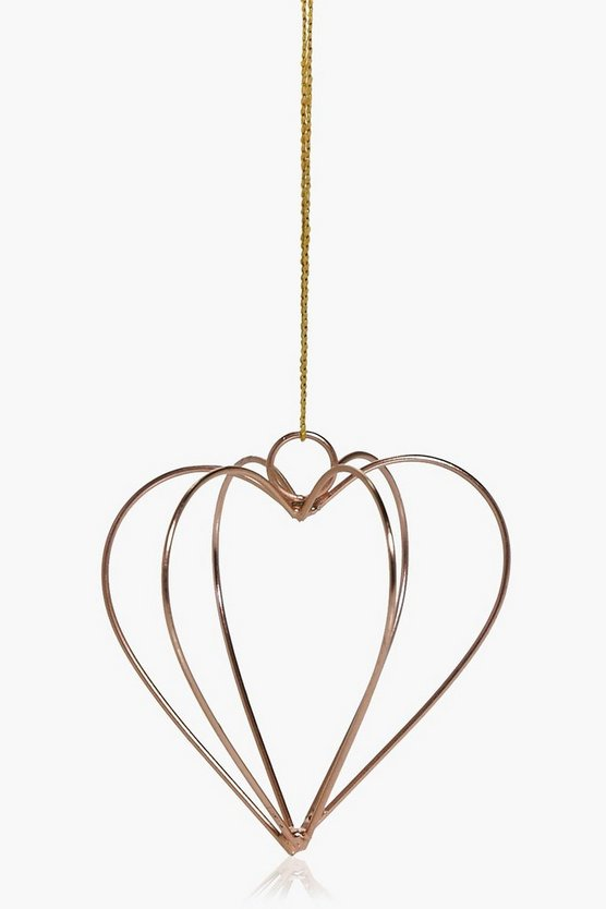 Heart Copper Christmas Hanging Decoration