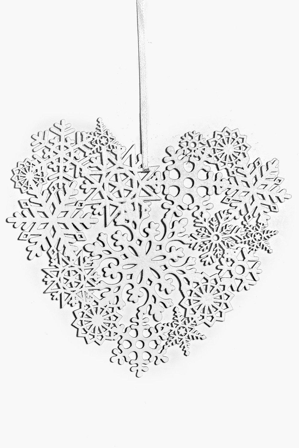 Christmas Heart Hanging Decoration