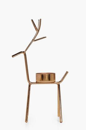 Copper Christmas Reindeer Candle Holder