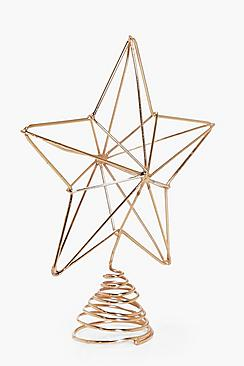Copper Star Christmas Tree Decoration