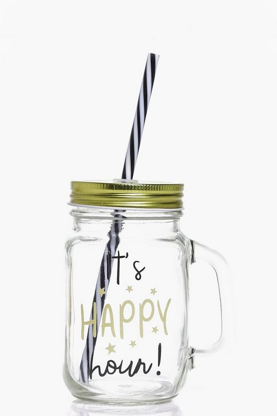 Happy Hour Mason Jar