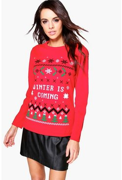 Abigail Winter Is Coming Christmas Jumper