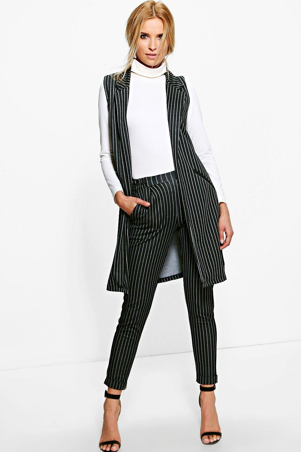Amarah Pinstripe Woven Relaxed Trousers