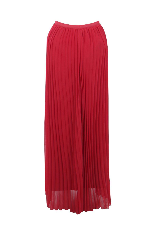 boohoo womens chiffon pleated maxi skirt