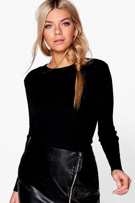 Esme Rib Knit Crew Neck Jumper