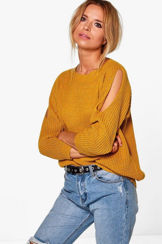 Caitlin Cold Shoulder Jumper