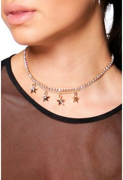 Tilly Star & Diamante 2 Row Choker
