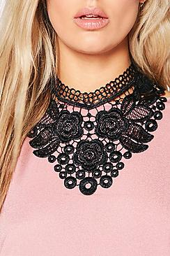 Julia Lace Oversized Collar Choker