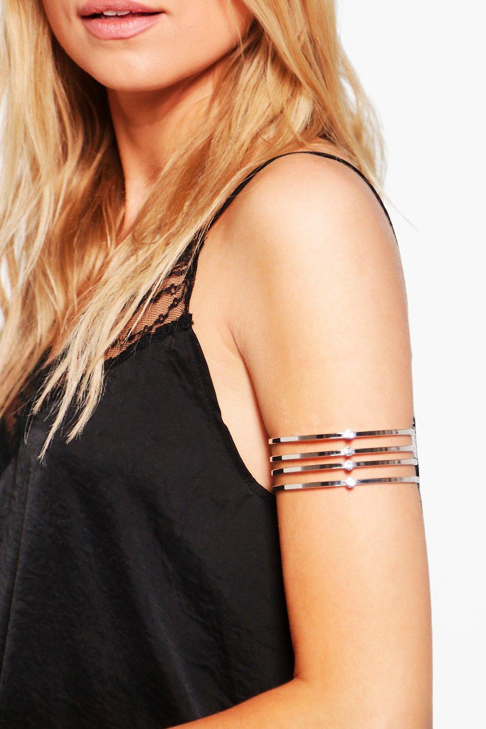 Paige 4 Line Diamante Arm Cuff