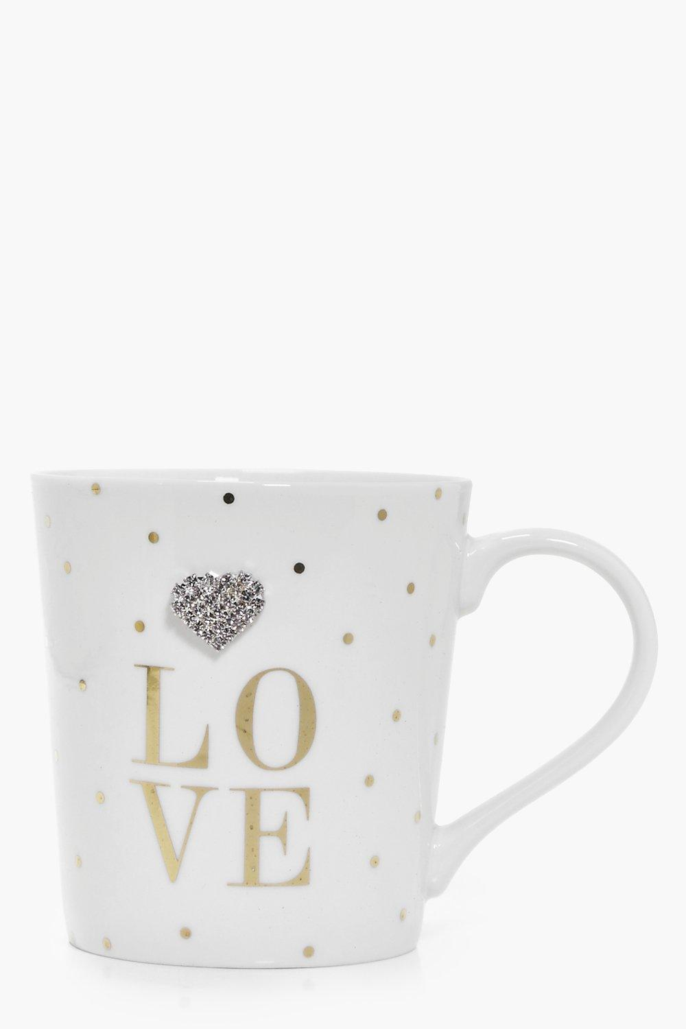 Love Embellished Jewel Mug