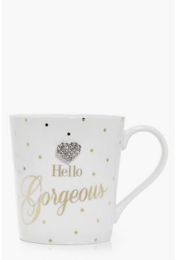 Hello Gorgeous Embellished Jewel Mug