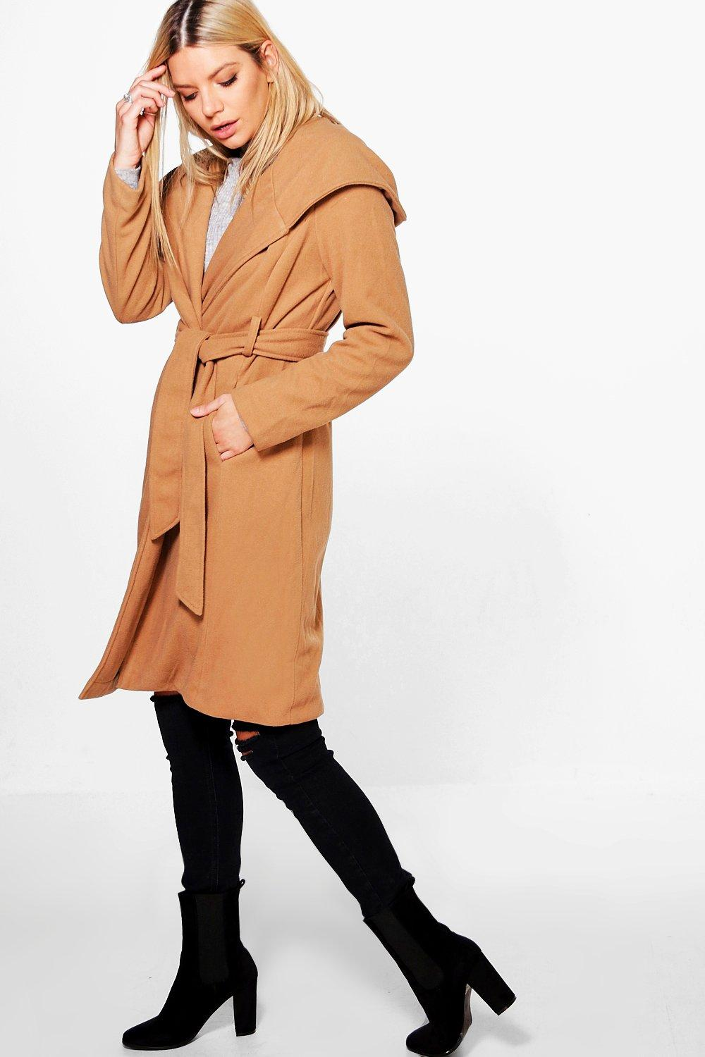 Zoe Oversized Wrap Jacket With Shawl Hood