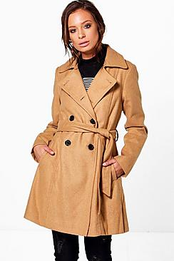 Vanessa Double Breasted Belted Trench Coat