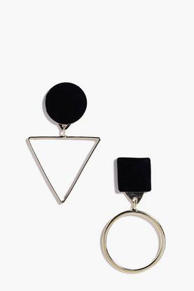 Alice Geometric Contrast Earrings