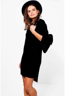 Mia Side Split Half Jumper Dress