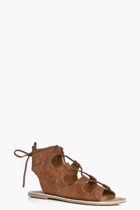 Tilly Suede Ghillie Lace Up Sandal