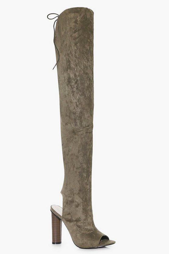 Amelia Peeptoe Thigh High Boot