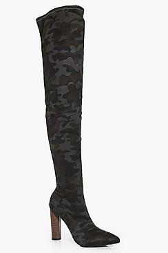 Madison Camo Thigh High Boot