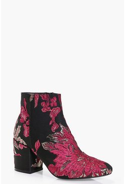 Rebecca Floral Ankle Boot