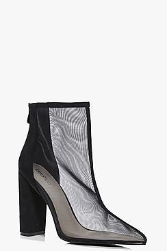 Frances Mesh Pointed Ankle Boot