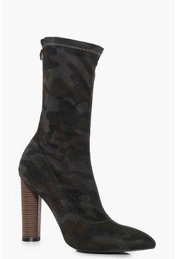 Bethany Camo Sock Boot