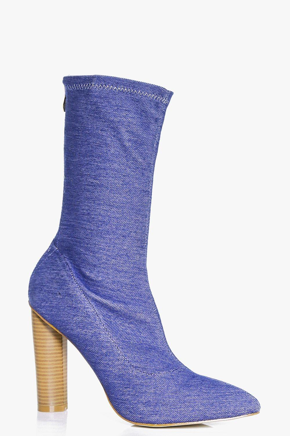 Gabriella Denim Sock Boot