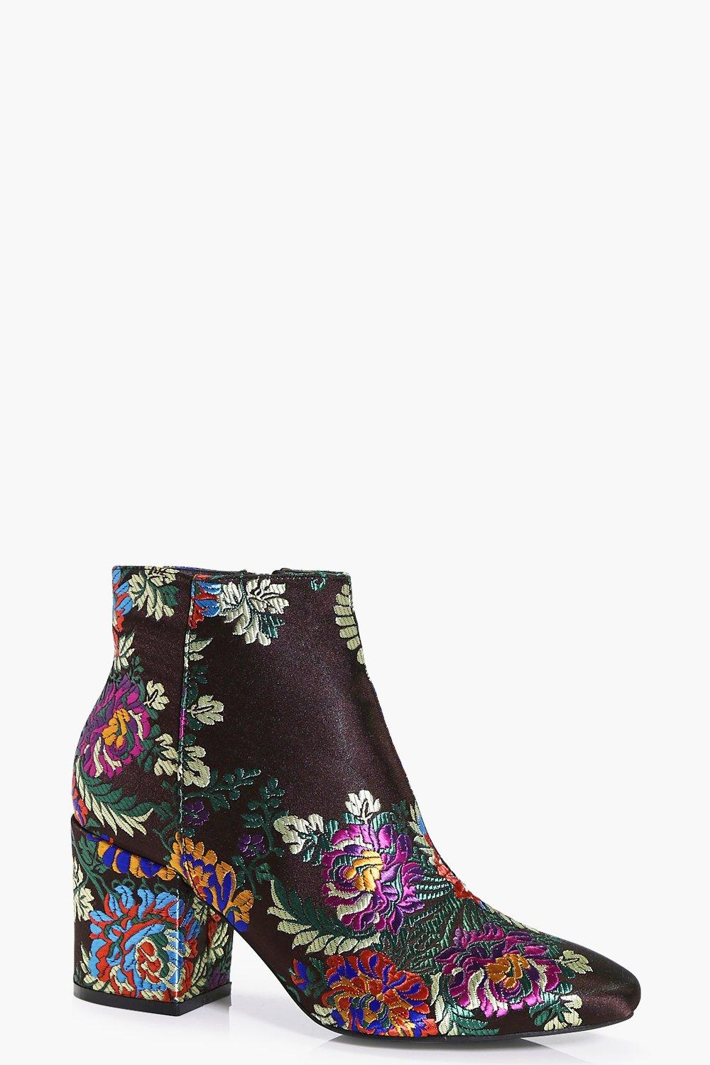 Beatrice Multi Floral Ankle Boot