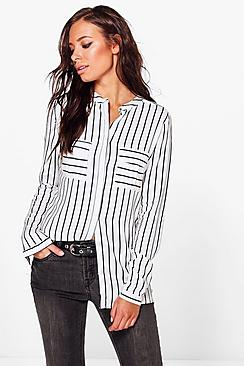 Polly Pocket Detail Stripe Shirt