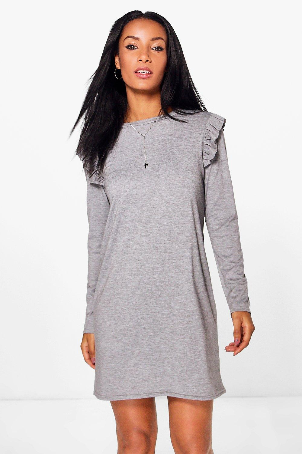 Adira Micro Frill Sleeve Shift Dress