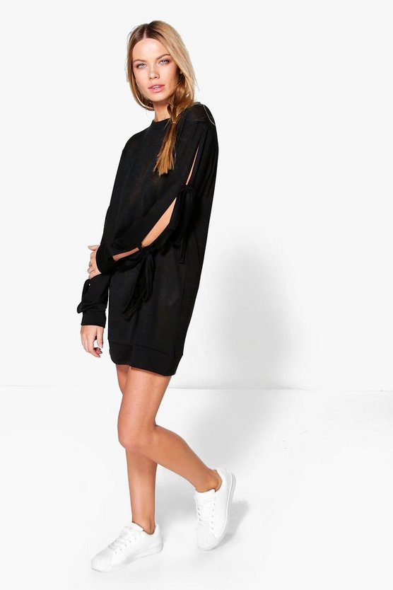 Vera Tie Sleeve Sweat Dress