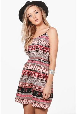 Poppy Strappy Elephant Print Sun Dress