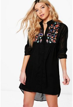 Boutique Dory Embroidered Shirt Dress