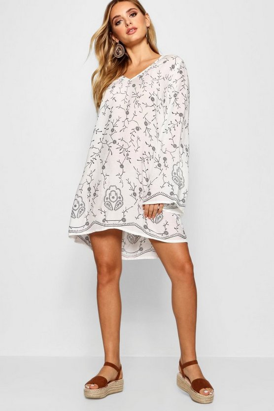 Madeleine Embroidered Shift Dress