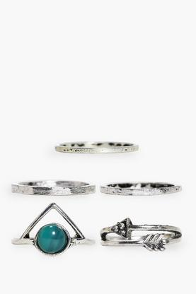 Charlotte Gem Stone & Plain Ring Pack