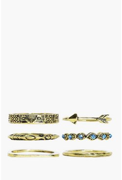 Phoebe 6 Piece Arrow Ring Pack