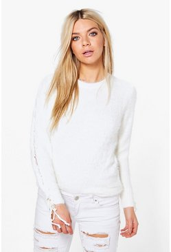 Zoe Lace Detail Sleeve Jumper
