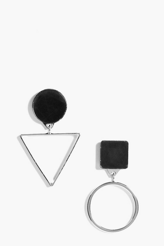 Millie Geometric Contrast Earrings