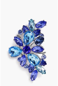 Erin Blue Mix Stone Ear Cuff