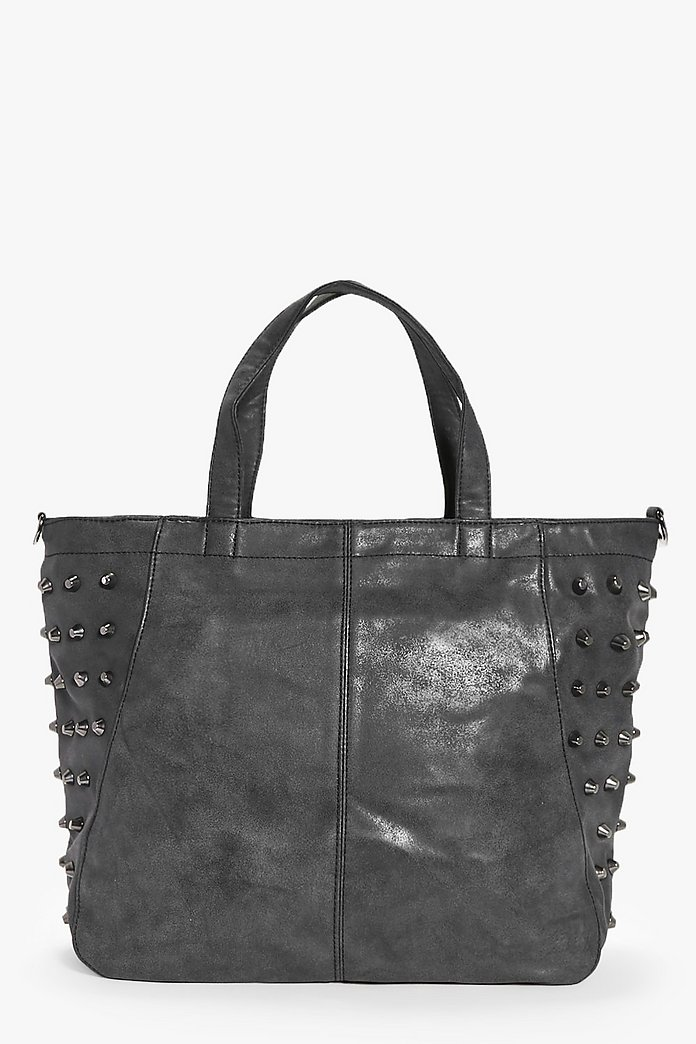 Lily Black Stud Detail Day Bag