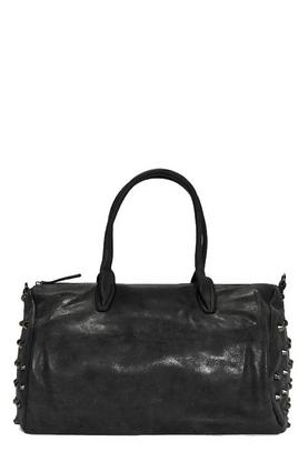 Jessica Black Stud Detail Bowler Bag