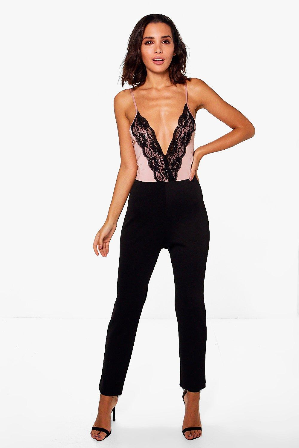 Kate Lace Trim Cami Style Jumpsuit