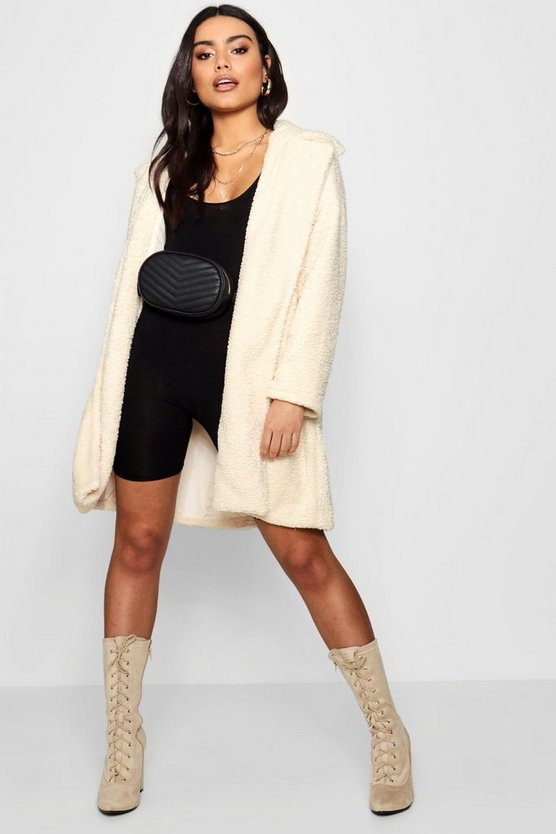Boutique Teddy Faux Fur Chuck On Coat