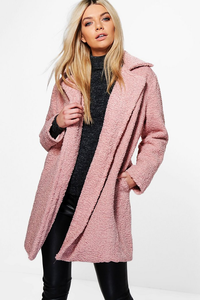 Louisa Boutique Teddy Fur Chuck On Coat