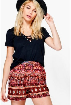 Laura Print Flippy Shorts