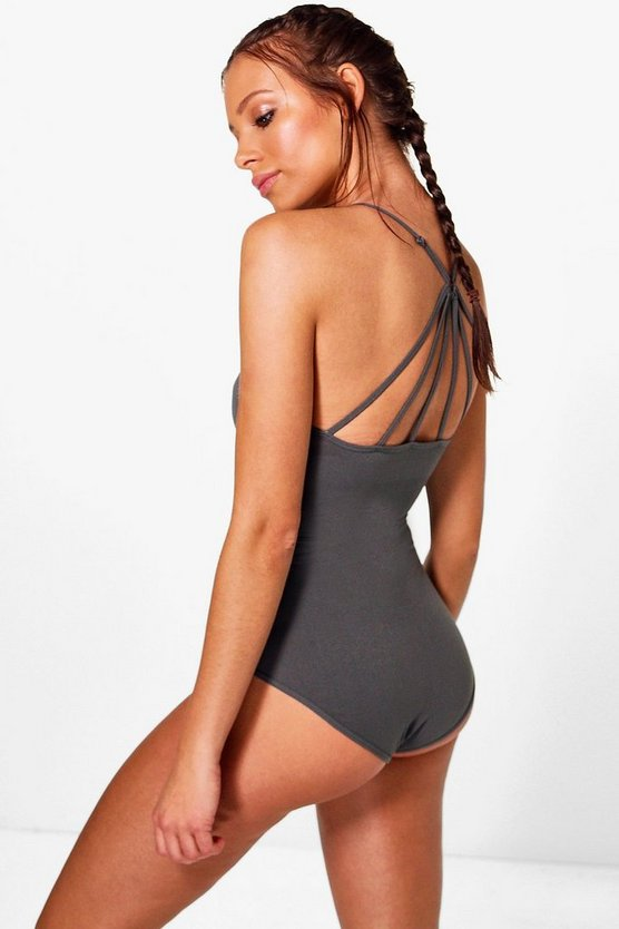 Abigail Fit Strappy Work Out Bodysuit
