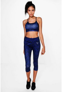 Leah Fit Zig Zag Running Leggings